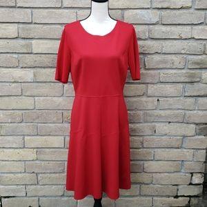 ELIE TAHARI Red Maria Dress